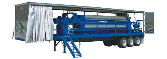 Mobile Trailer Mounted J-Press® Filter Press